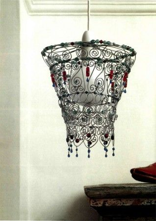 Weave of wire. How to make a lamp shade Moorish .. Talk to LiveInternet - Russian Service Online Diaries