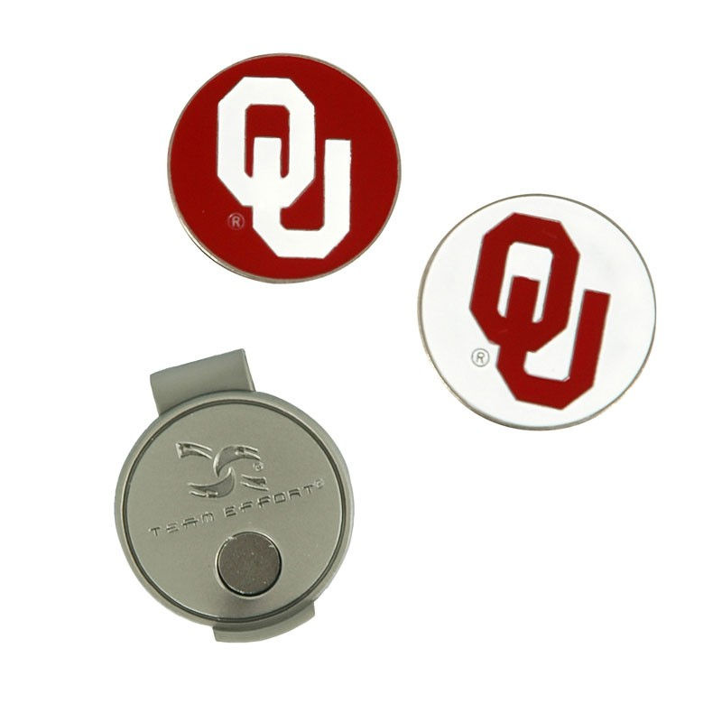 6b523857038 Oklahoma Sooners Hat Clip   Ball Markers Set in 2018