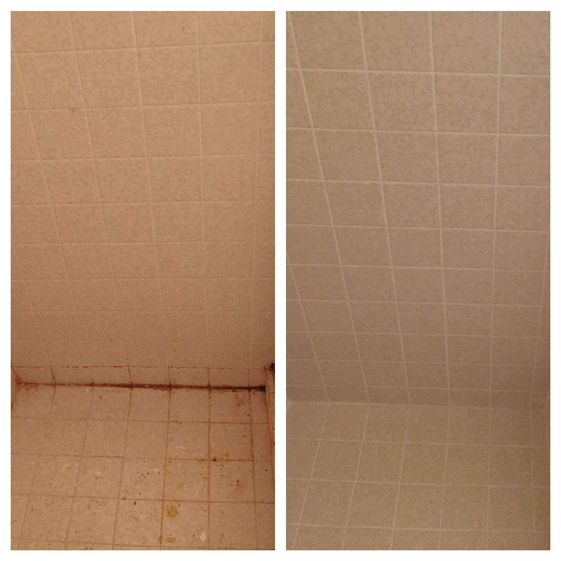 Grout Plus before/after bathroom regrout Grout, Tile