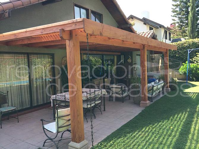 p rgolas cobertizos quinchos cortavistas y deck On cobertizo de jardin moderno de techo plano