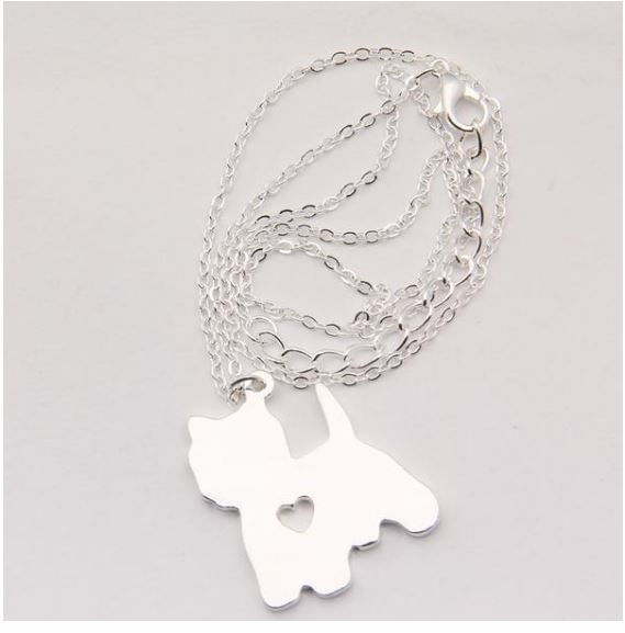Zinc alloy yorkie pendant necklaces aloadofball Choice Image