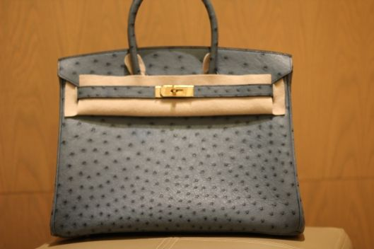 9049a1063ea4 Hermes Birkin 35 Blue Jean Ostrich with GOLD
