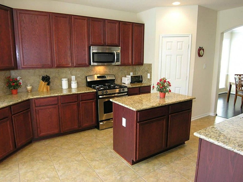 Center Island Designs For Kitchens Unique Dark Cherry Wood Kitchen Cabinets  Dark Cherry Wood Kitchen Design Decoration