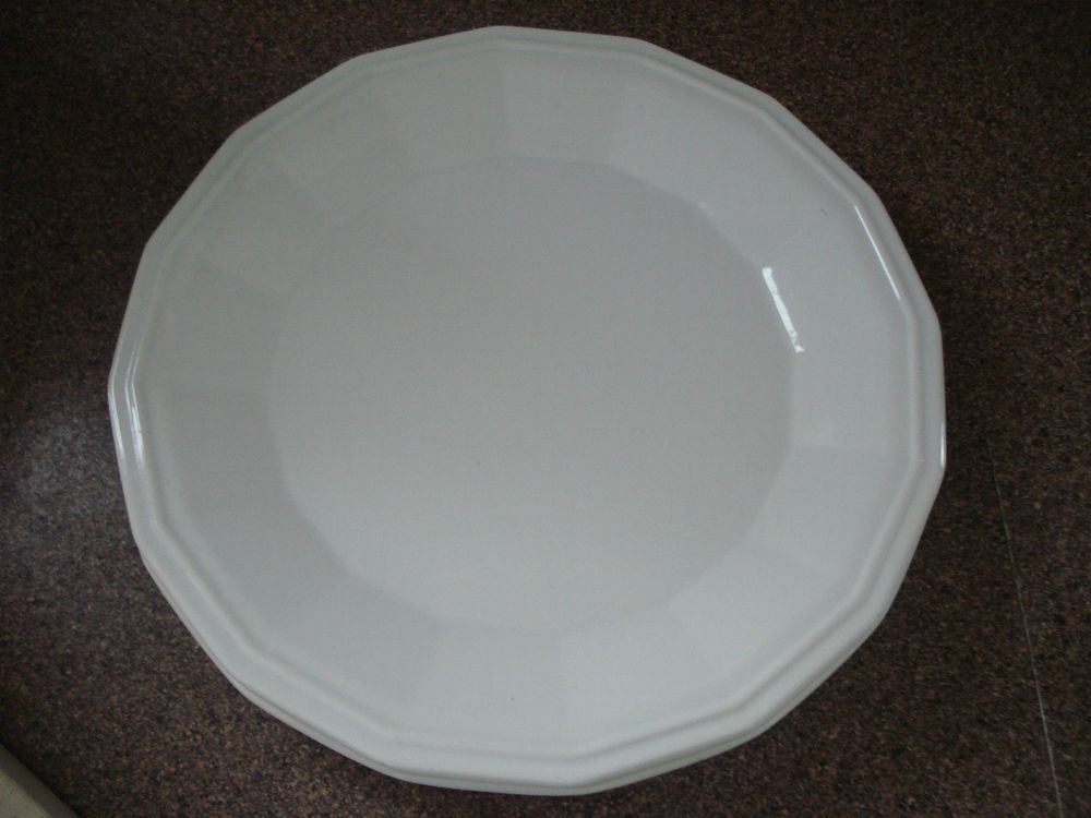 HOMER LAUGHLIN 2 COLONIAL WHITE LARGE DINNER PLATES NICE : large dinner plates cheap - pezcame.com