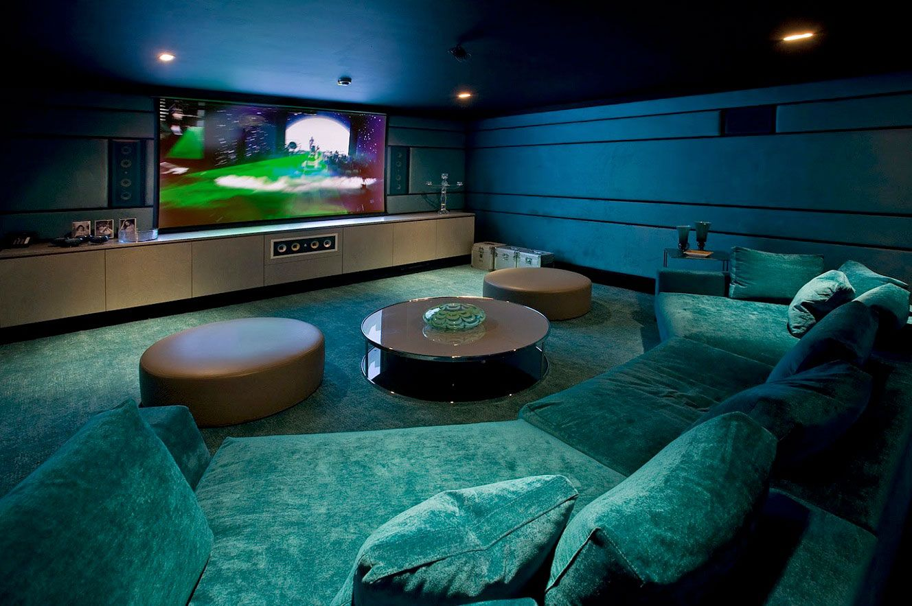 Media Room Basement Remodel With Blu Gradation Lighting With Soft Chair And  Nice Home Cinema Design Ideas Some Theater Room Ideas That Should Always Be  ...