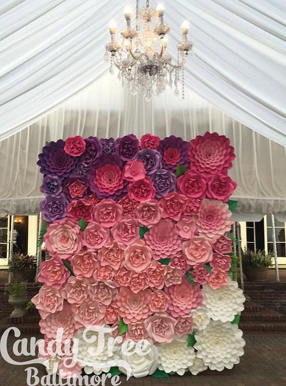 Sweet 16 Backdrop Giant Paper Flowers Wall Flower Large Wedding Arch