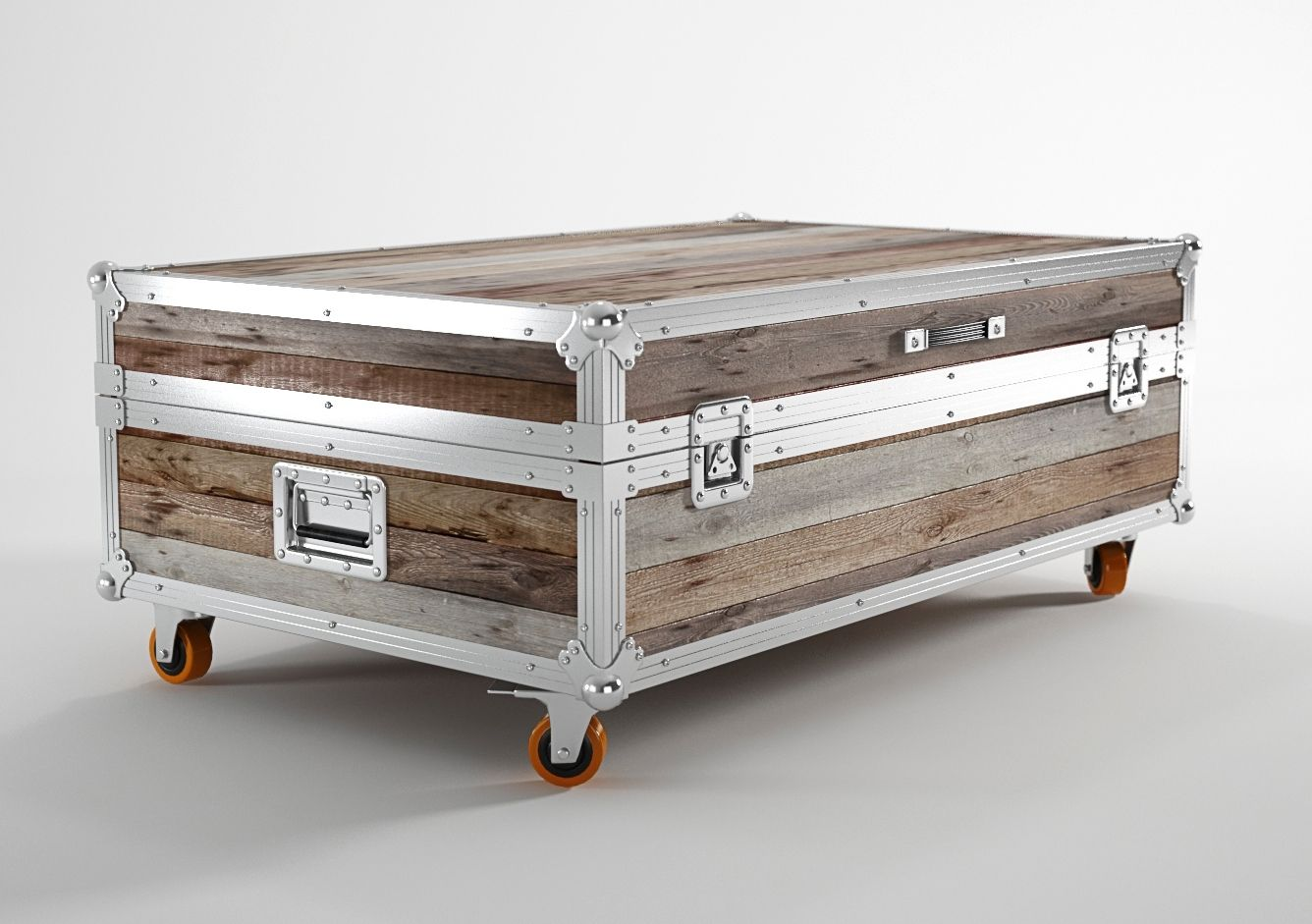 Stainless Steel Trunks As Coffee Tables