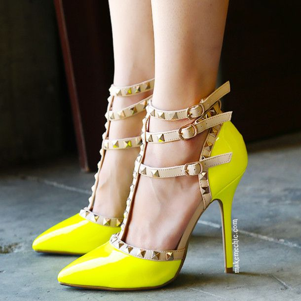 1000  images about yellow heels on Pinterest | High heels sandals ...