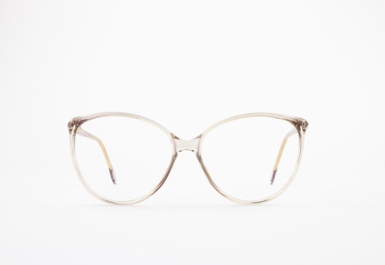 80s Vintage Glasses | Round Oversized Clear Eyeglass Frame ...