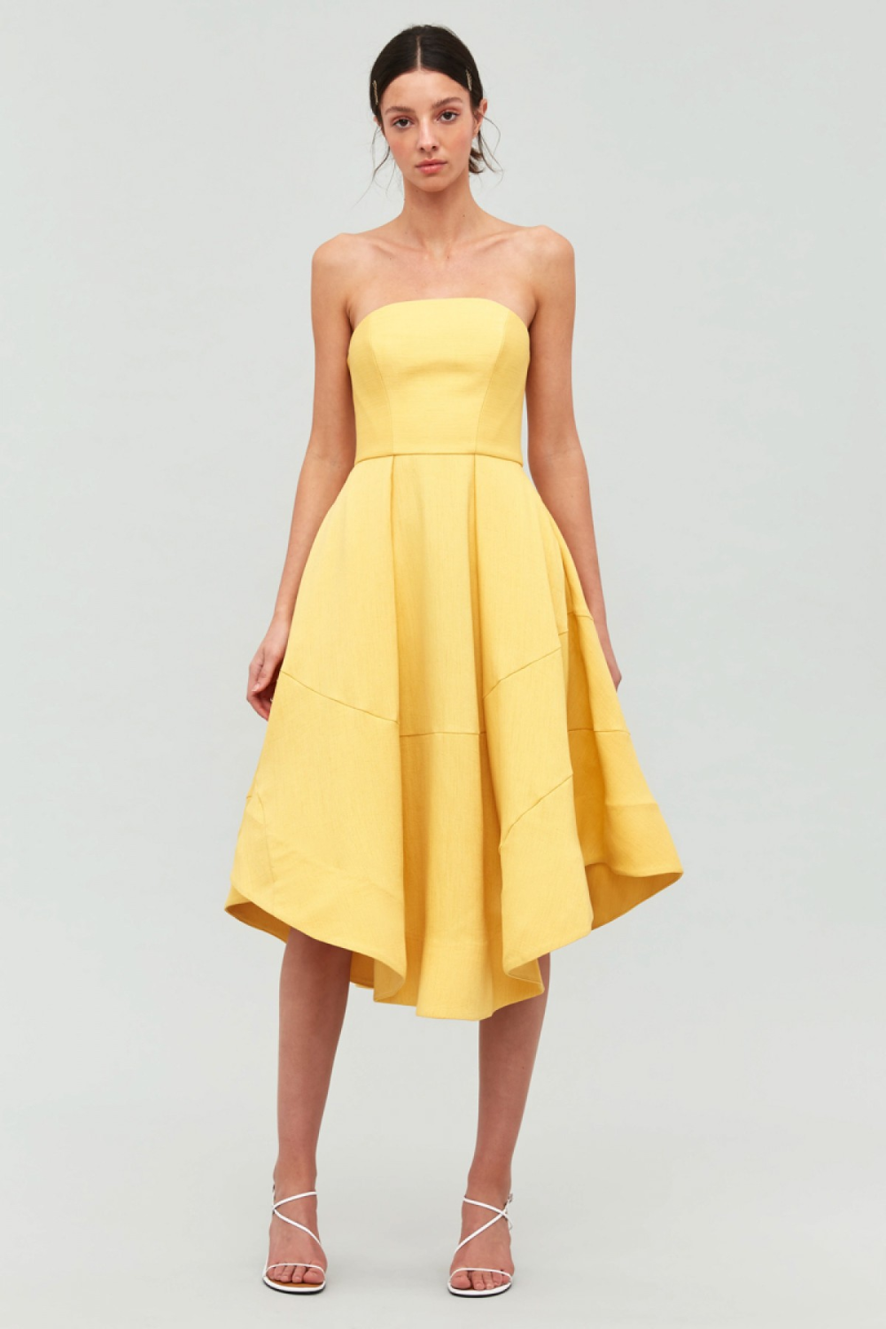 Beyond Control Dress Gold C Meo Collective Bnkr Yellow Strapless Dress Prom Dresses Yellow A Line Dress [ 1500 x 1000 Pixel ]