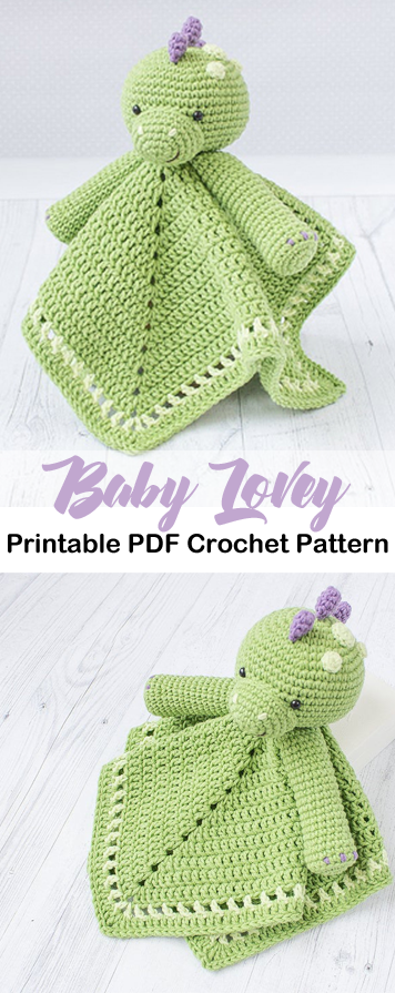 Security Blanket Crochet Patterns – baby lovey blanket - Cute Baby Gifts - A More Crafty Life #crochet #crochetpattern #baby #babygift #securityblankets