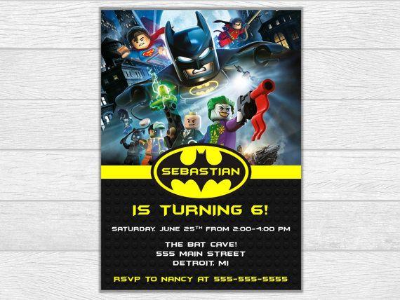 Invitación De Batman Cumpleaños Batman Lego Por