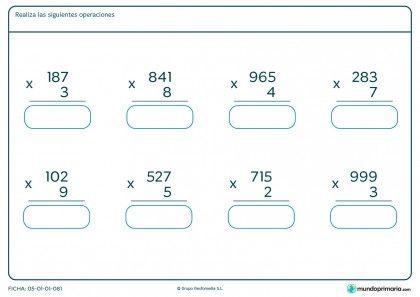 Fichas Para Imprimir Para Niños De Primaria Fichas Fichas De Matematicas Multiplicacion