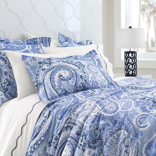 Lyric Paisley Blue Duvet Cover The Outlet Paisley Bedding Blue Duvet Cover Blue Duvet