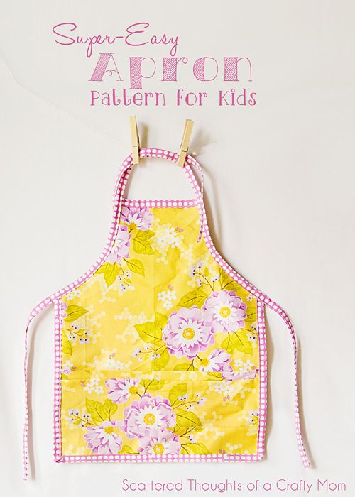 Free pattern and tutorial to make this child size apron. | Sewing ...