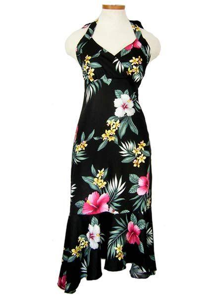 Plus size luau dresses new tube top hawaiian print for Hawaiian wedding dresses plus size