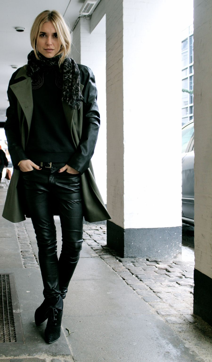 Leather pants done right.
