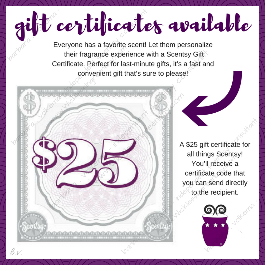 Scentsy Gift Certificates Available Https Wicklessingreenbay Scentsy Us Shop C 3932 Gift Certificates Scentsy Gift Certificates Gifts