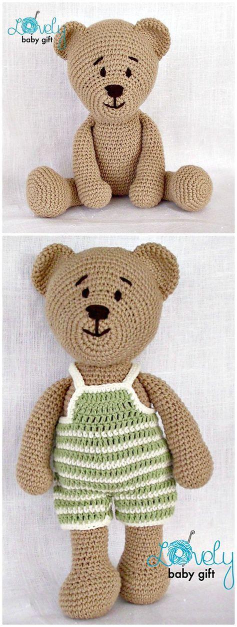 50 Free Crochet Teddy Bear Patterns | Kinder nähen, kreative Ideen ...