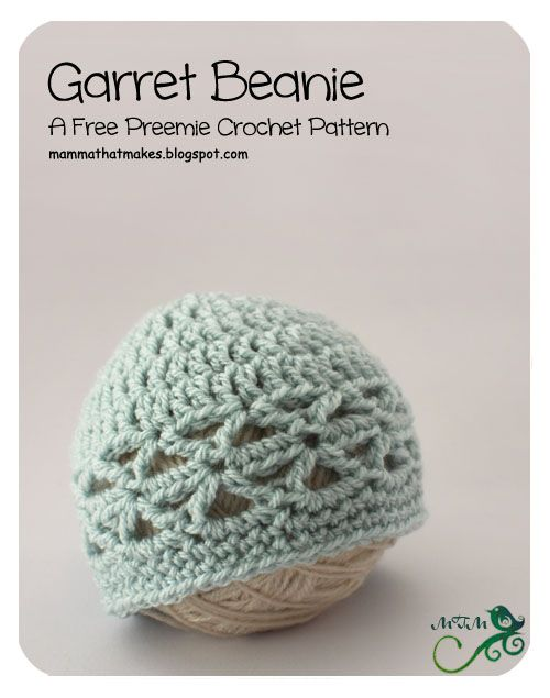 Mamma That Makes: 4. Garret Preemie Beanie | Crochet for Babies ...