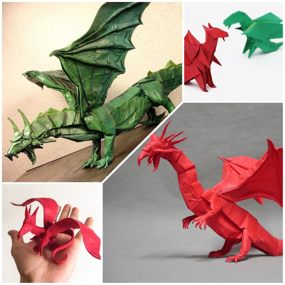 Easy Origami Dragon A4 Instructions (Origamite) - YouTube | 1145x1145