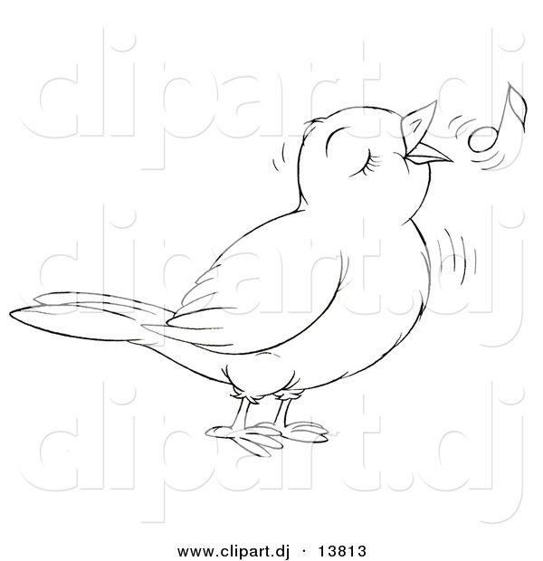 Singing Bird Coloring Sheet | Classroom