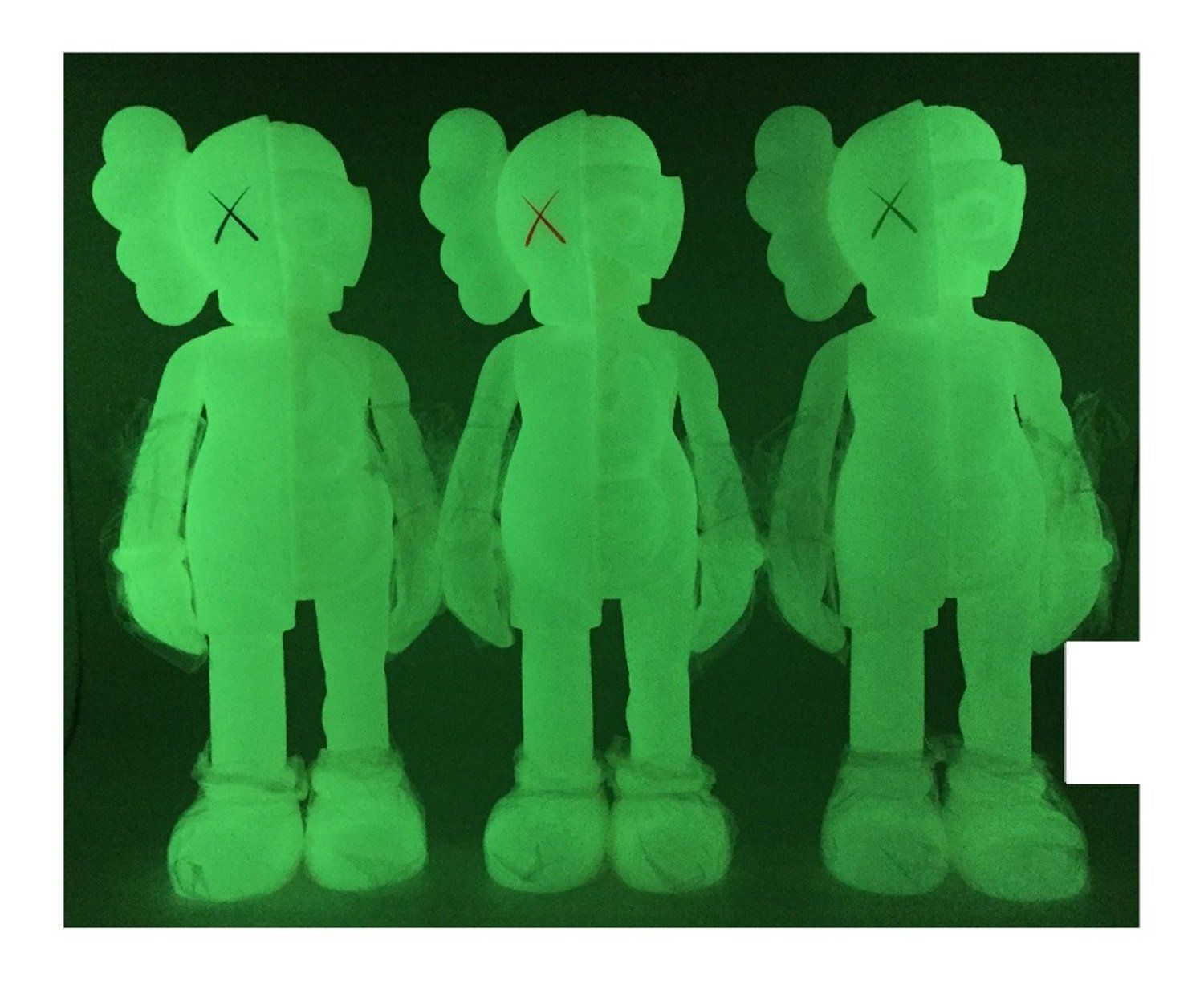 KAWS Small Lie Fashion Collectible Model 11inch Action Figure Toy Limited Black