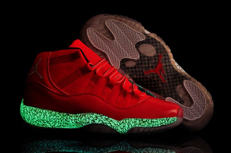 newest df08c 7be2a Air Jordan 11 Toro All Red Lab Glow in the Dark