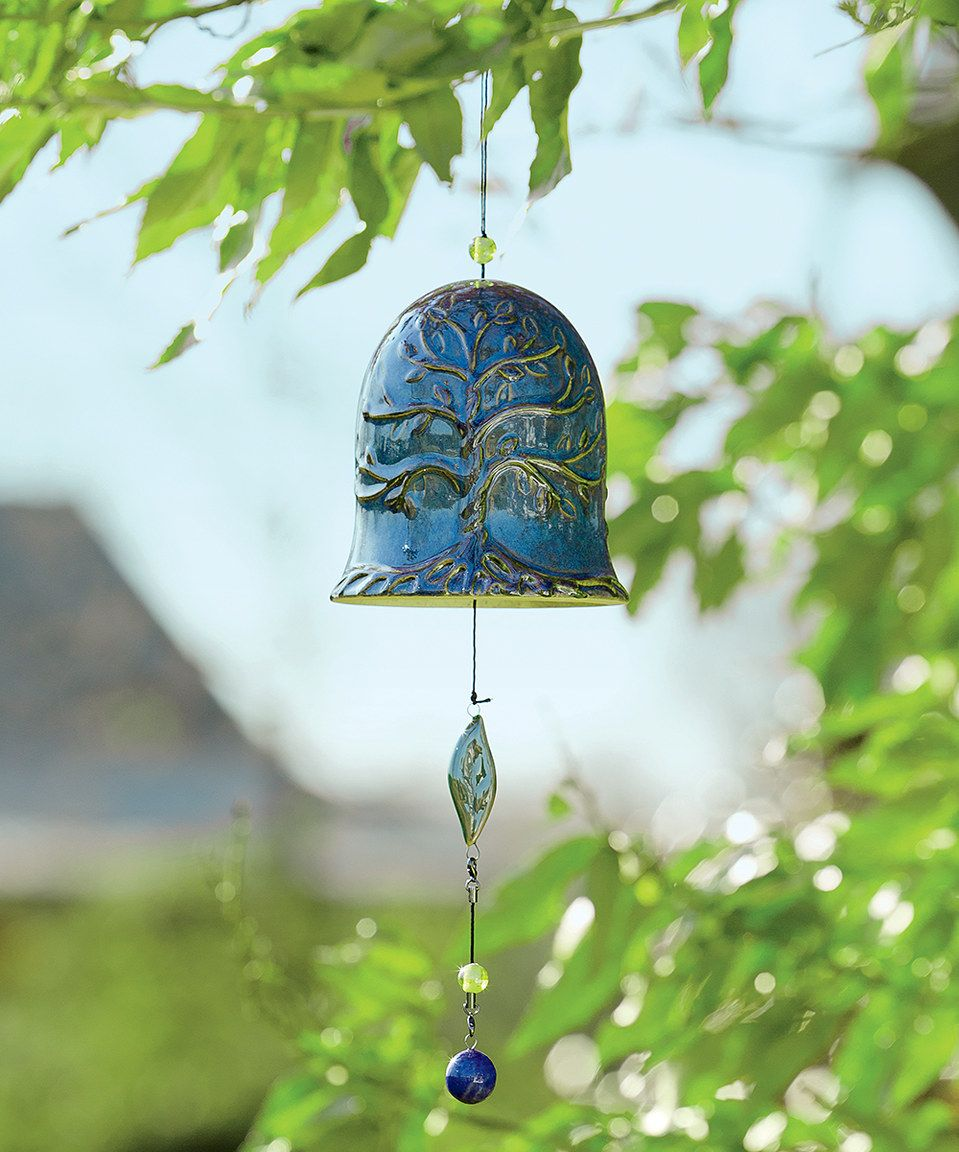 Look what I found on #zulily! Blue Whispering Bell Wind Chime by ...