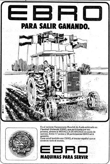 Ebro tractores. Año 1977
