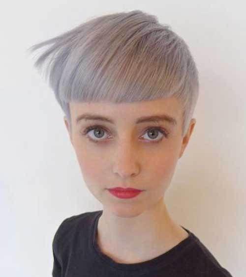Schöne Kurze Pixie Haircut Mit Pony Für Runde Gesichter 2018