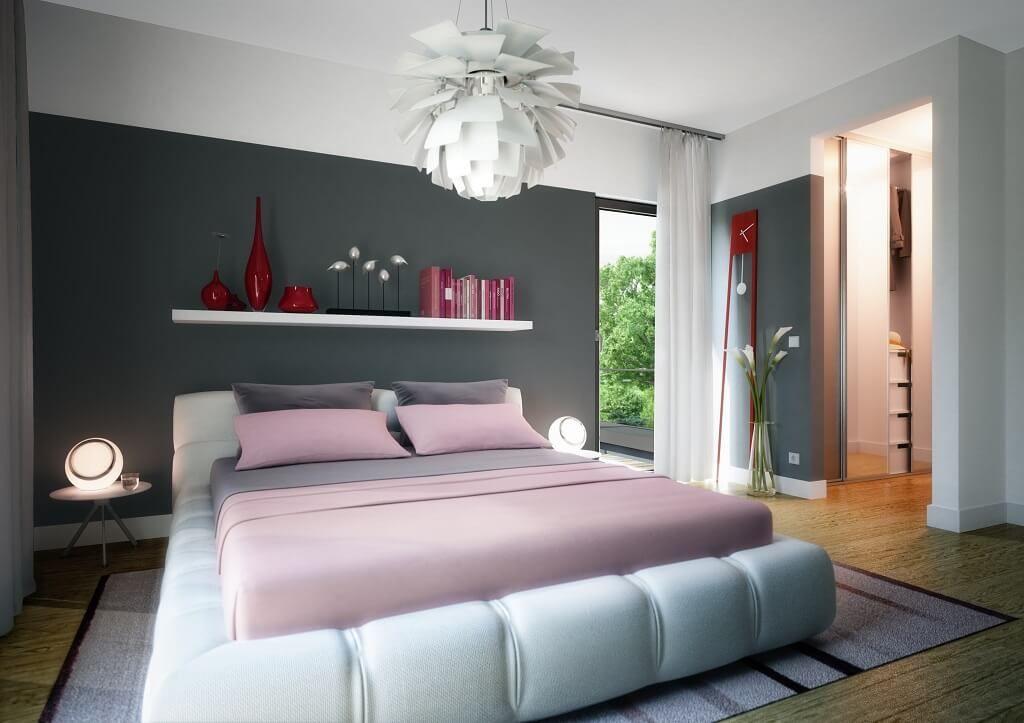 Einrichtung Schlafzimmer modern mit Ankleide // Haus Concept-M 193 ...
