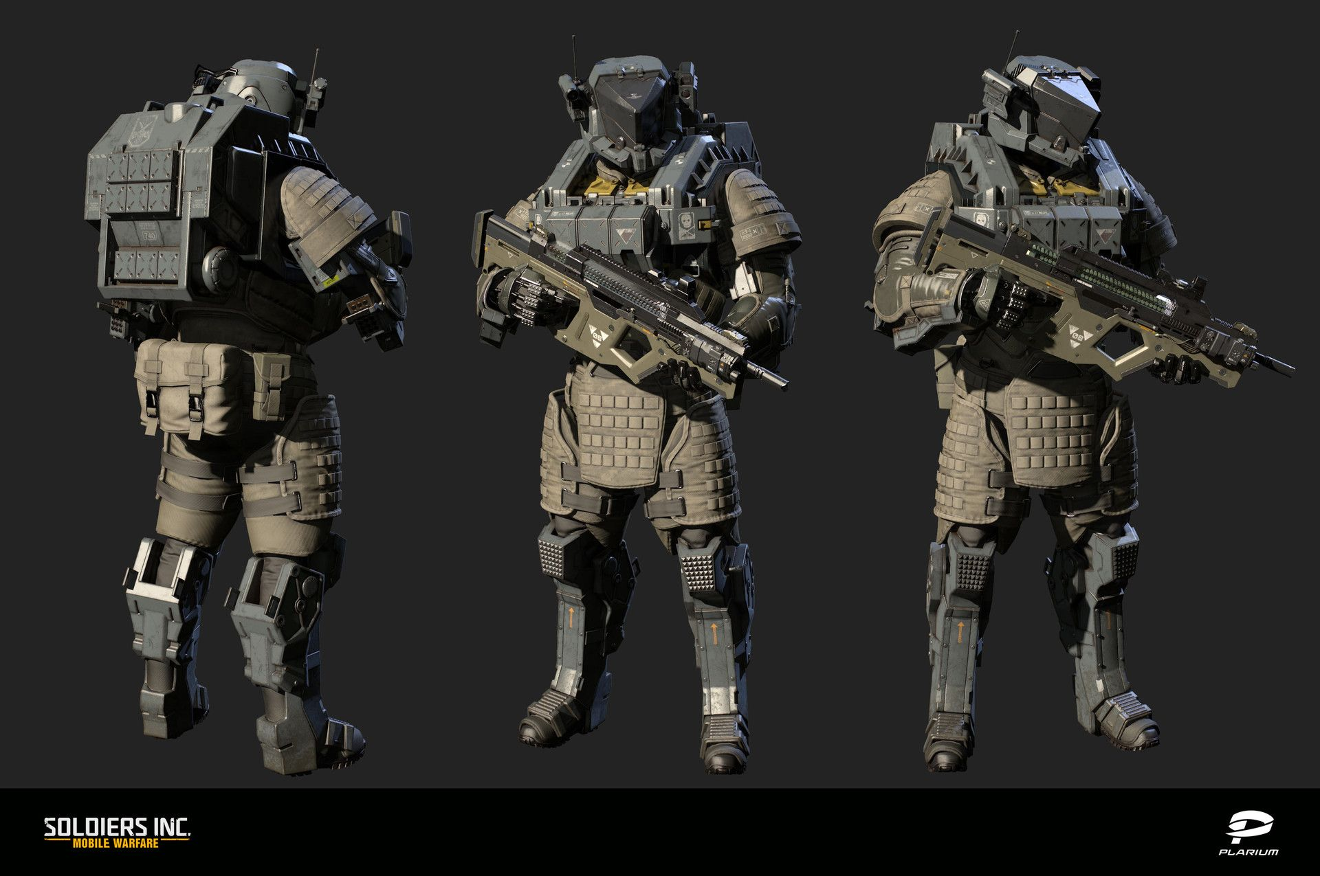 Hi! Here is 3D character model that I recently did for our new project Soldiers Inc: Mobile Warfare. Hope you'll like it!