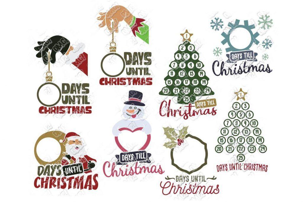 Christmas Countdown SVG Bundle Christmas countdown