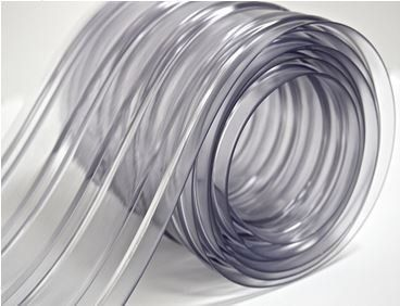 150′ Roll – 8″ Wide Ribbed PVC Plastic Strip Curtain for Walk In ...