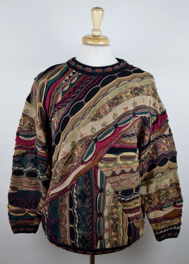 Vintage Indian Tribe Sweatshirt / Crewneck / Rare Design Boho / Hippie pattern Size Large PH6DUvD
