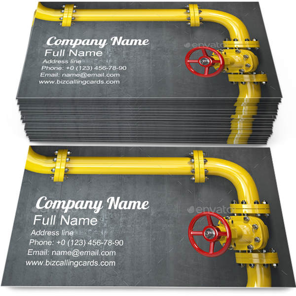 Create Online Gas Pipeline Valve Business Card Template Business Card Template Card Template Business Cards