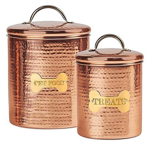King Charles Copper Dog Canister Dog Food Canisters Dog Food