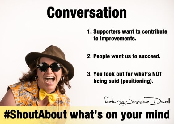 The art of conversation - create an effective revolving door system to contribute, support, and share your knowledge. Can you find the art of conversation in every interaction?