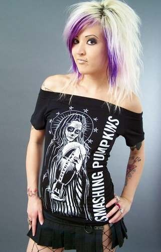 DIY Smashing Pumpkins reconstructed T-shirt Zeitgeist punk rock top