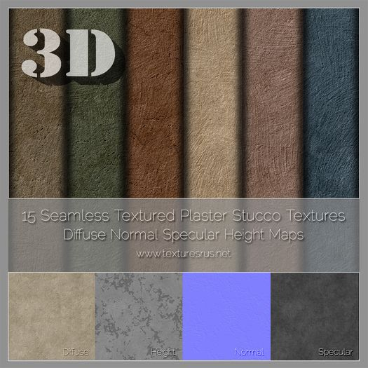 Pin By Jaime Aguilar On Stucco Texture: *3D* 60 Textured Stucco Plaster Texture