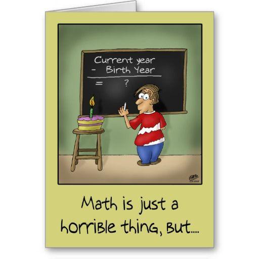 Funny Birthday Cards Birthday Math Card Pinterest Card Birthday