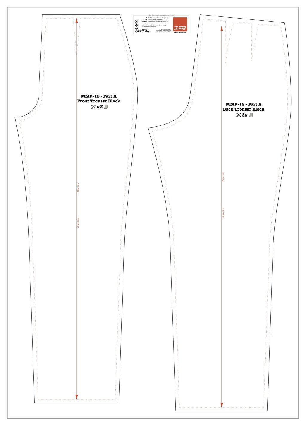 Mmp 15 womens tailored trousers pattern custom pants pattern make my pattern website jeuxipadfo Image collections