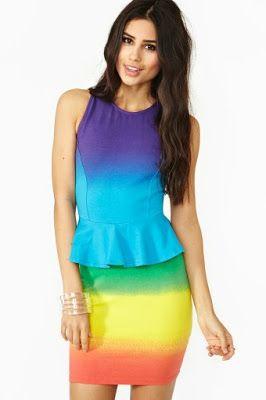 db725e6c5 Viste Vestidos  Rainbow Dress (Vestido Arcoiris)