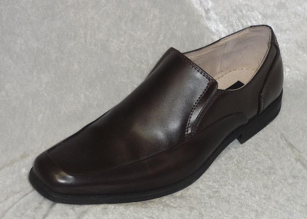 6db9192de22f J Ferrar Dress Shoes Chase Moc Toe brown slip on leather men s size 8 NEW  29.99