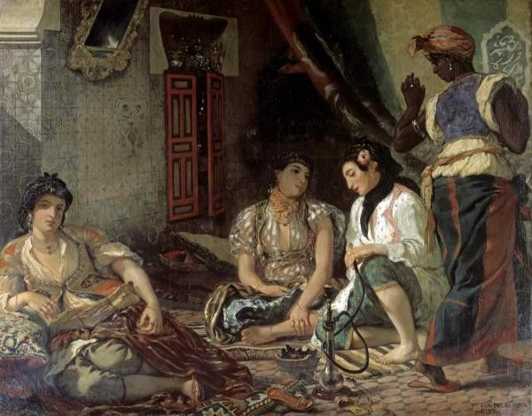 Algerian Women In Their Apartment by Delacroix, Eugene - Wall Art