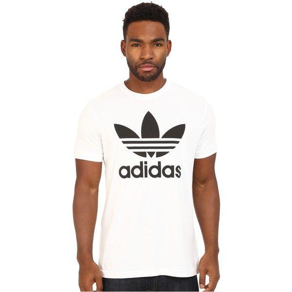 645e8f0a4 adidas Originals Originals Trefoil Tee (White/Black) Men's T Shirt (18630  IQD) ❤ liked on Polyvore featuring men's fashion, men's clothing, men's  shirts, ...