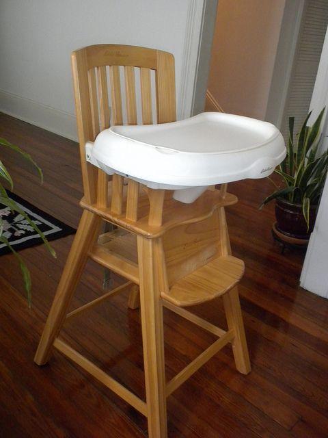 Eddie Bauer Wooden High Chair Wood High Chairs Chair Wooden High Chairs