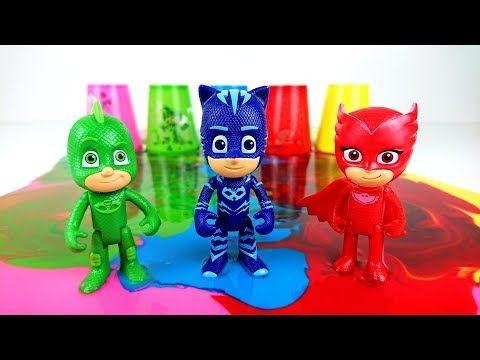 Учить цвета с помощью игрушек Герои в Масках и ...