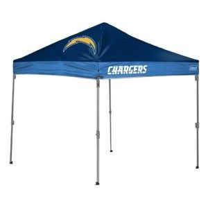 San Diego Chargers Coleman 10 X 10 Straight Leg Canopy Tent From Tailgategiant Com Canopy Tent San Diego Chargers Chargers Nfl